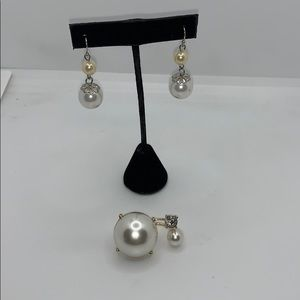 Jewelry - Gorgeous glam earrings and ring